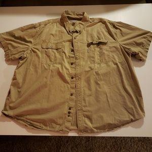 Carhartt Short Sleeve Button Down Shirt Size 4XL